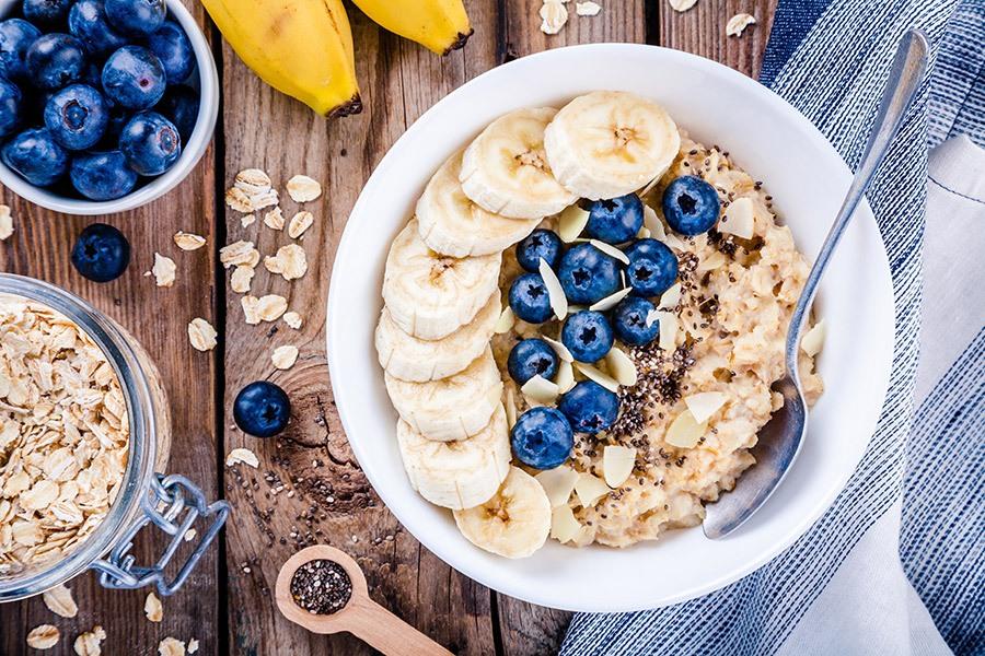 gezond havermout ontbijt