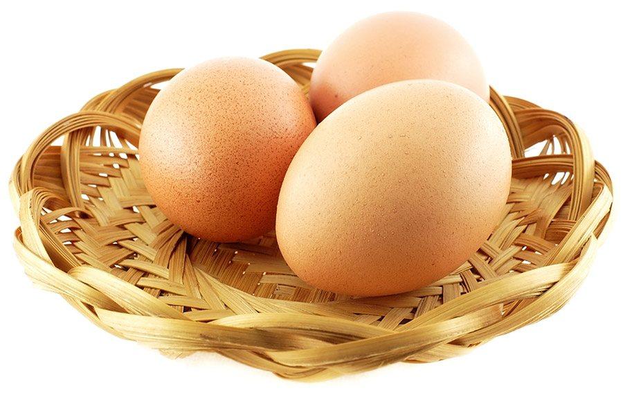 vet verbranden met eieren