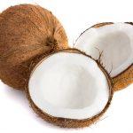 vet verbranden met kokosnoten