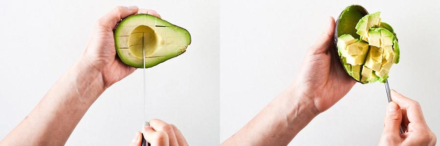 avocado insnijden en uitlepelen
