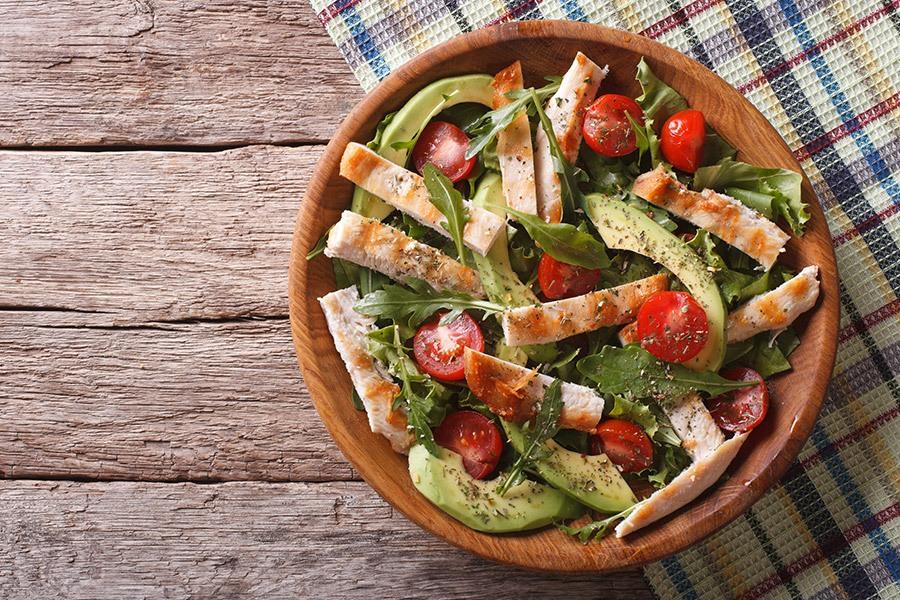 gezonde gevulde salade