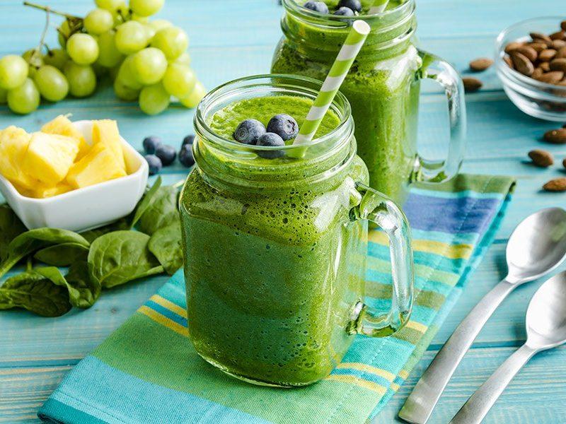 gezonde groene smoothie lunch