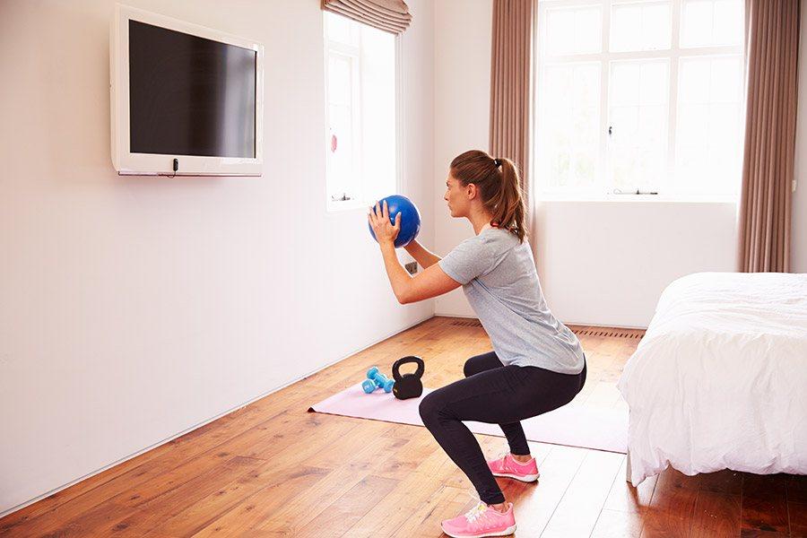 fitness oefeningen thuis
