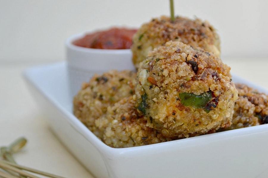 italiaanse quinoa ballen borrelhapjes