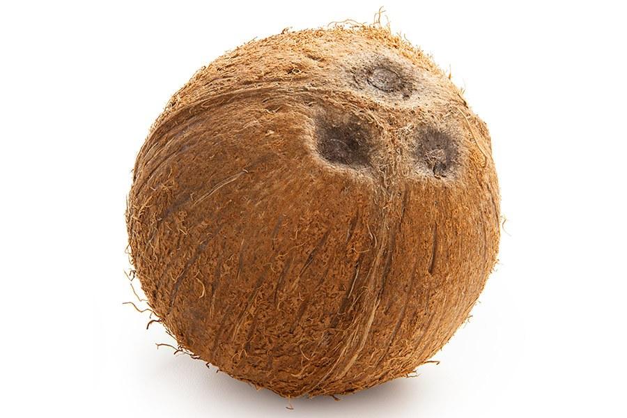 kokosnoot ogen gaatjes