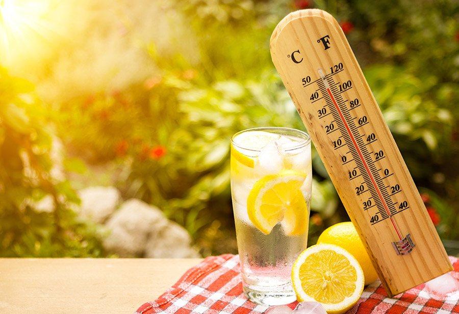 gezond eten bij warm weer