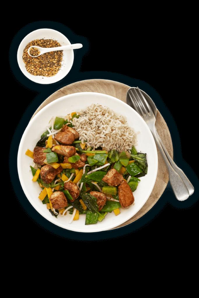 gerecht met kip en groente