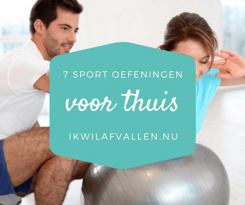 7 sportieve oefeningen voor thuis