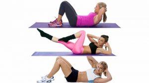 7 sportieve oefeningen crunches