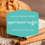 Koolhydraatarme appel-kaneel muffins