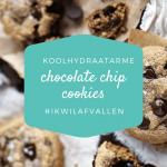 Koolhydraatarme chocolate chip cookies