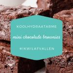 Koolhydraatarme mini chocolade brownies
