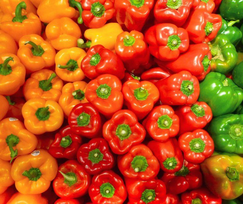 gevulde paprika's met bloemkoolrijst